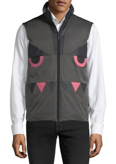 Fendi Monster-Face Reversible Vest