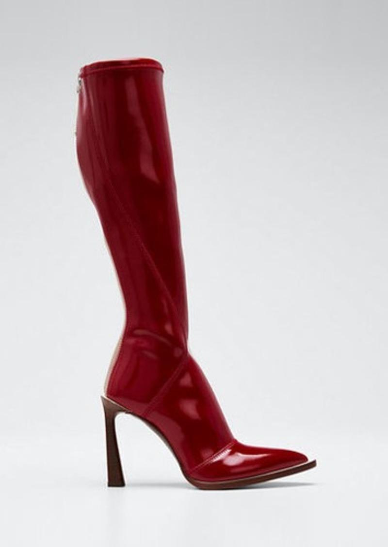 Fendi Neoprene To-The-Knee Boots