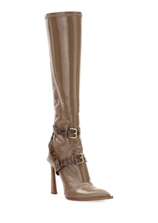 Fendi Neoprene To-The-Knee Boots  Brown