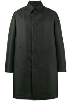 Fendi Nylon Mac With Side Detail - Black