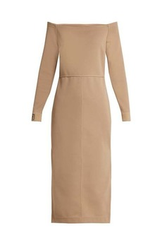 Fendi Off-the-shoulder midi dress