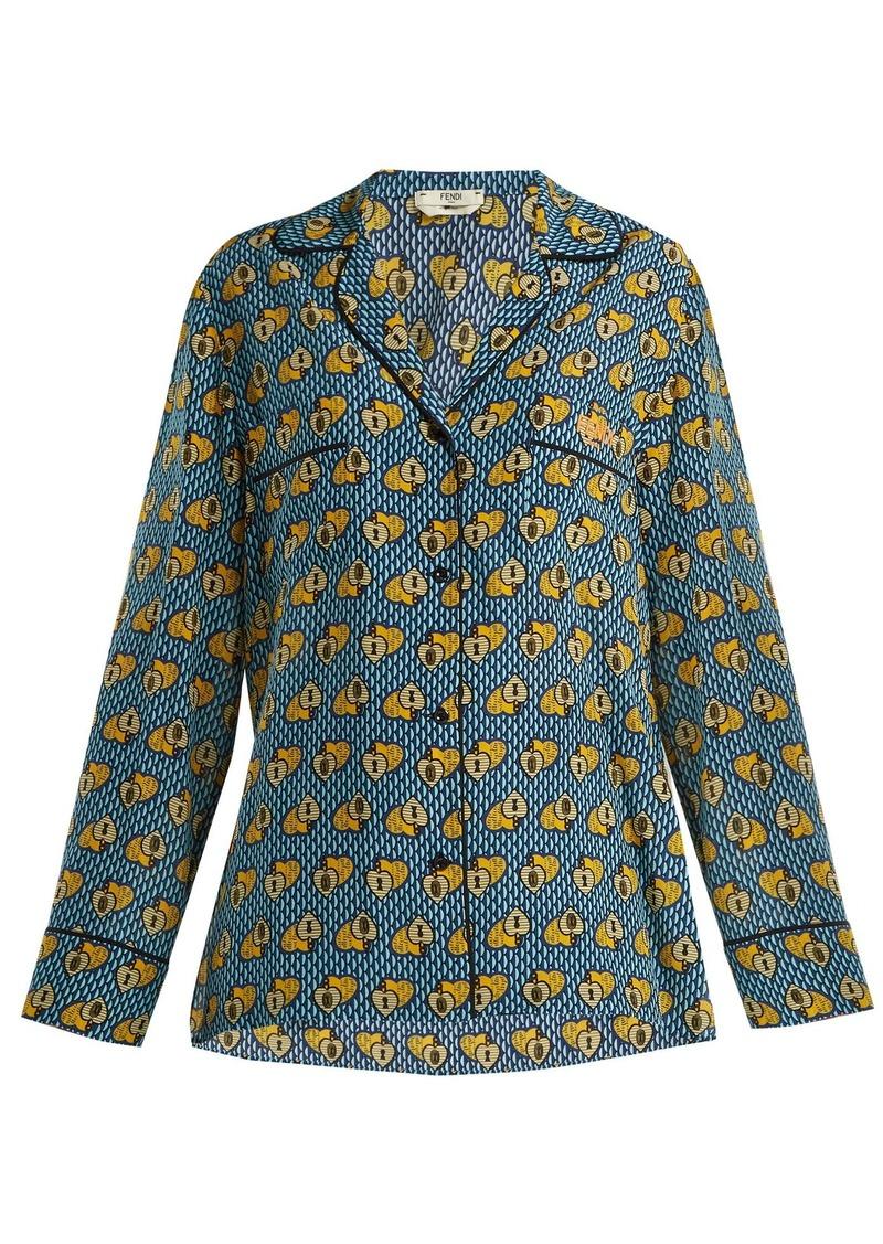 53aa607b6264f5 Fendi Fendi Open Your Heart silk blouse