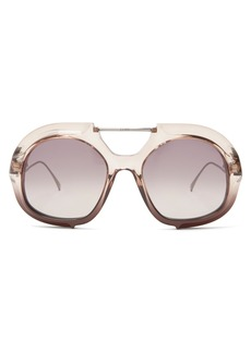 Fendi Oversized aviator sunglasses