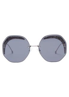 Fendi Oversized glitter metal sunglasses