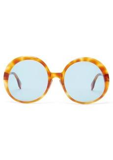 Fendi Oversized round tortoiseshell-acetate sunglasses