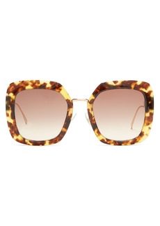Fendi Oversized tortoiseshell sunglasses