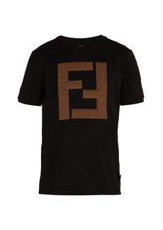 Fendi Padded-logo cotton T-shirt