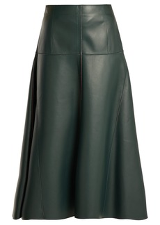 Fendi Panelled leather midi skirt