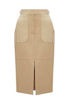 Fendi Panelled leather midi skirt