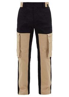 Fendi Patchwork cotton-blend canvas cargo trousers