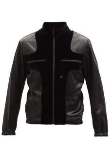 Fendi Patchwork velvet and satin jacket