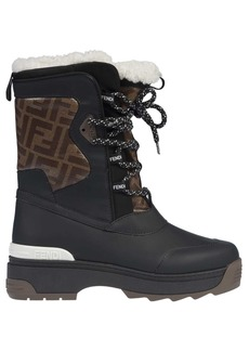 Fendi Pattern Detail Boots