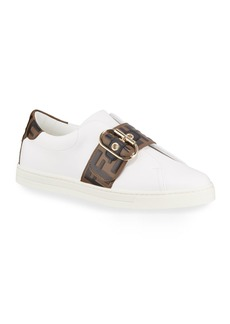 Fendi Pearland Leather Low-Top Sneakers