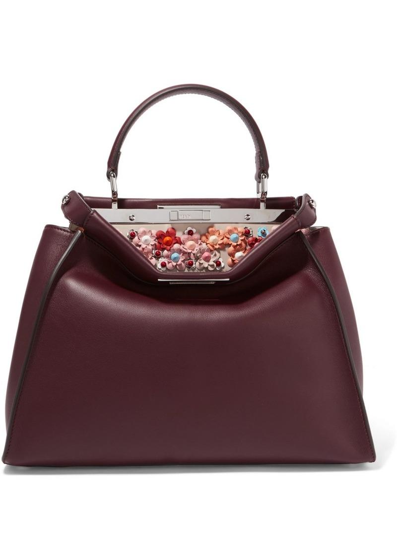 Fendi Fendi Peekaboo medium embellished leather tote  bbff7c8616a89