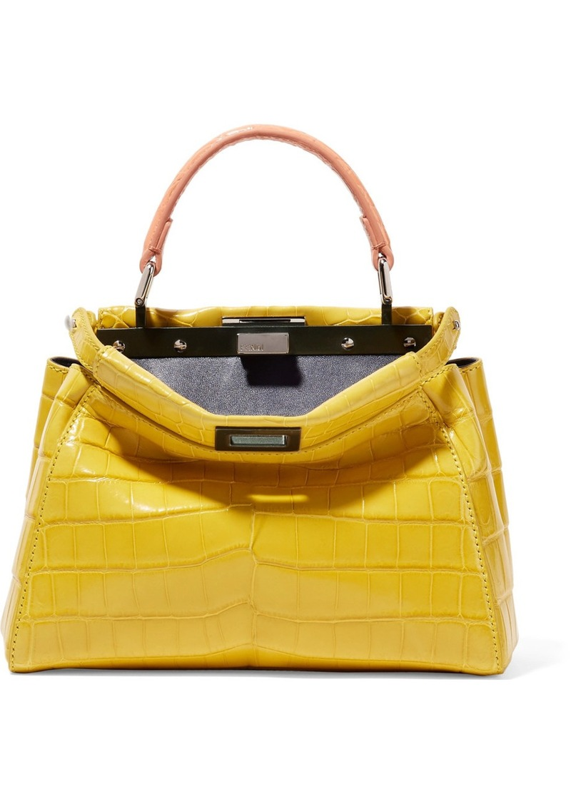 Fendi Fendi Peekaboo mini crocodile shoulder bag  00a73d85a03ef