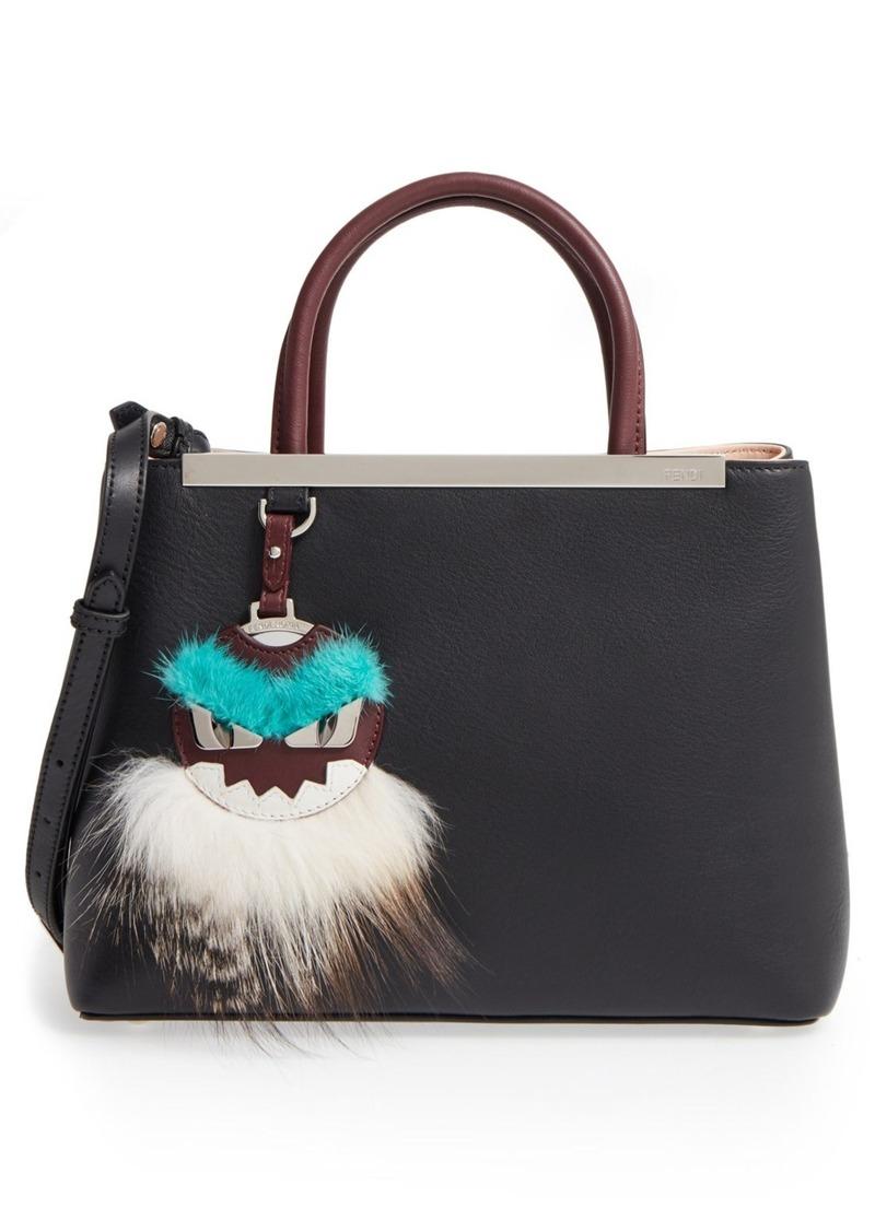 7e014d7d438 Fendi  Petite 2Jours  Leather Shopper with Genuine Mink Fur   Genuine Fox  Fur Monster.