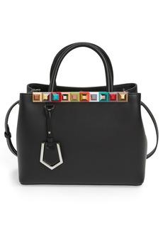 Fendi Petite 2Jours Studded Calfskin Leather Shopper