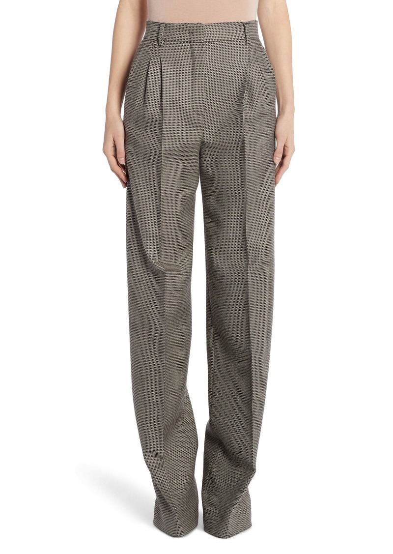 Fendi Pixel Pleated Wool Pants
