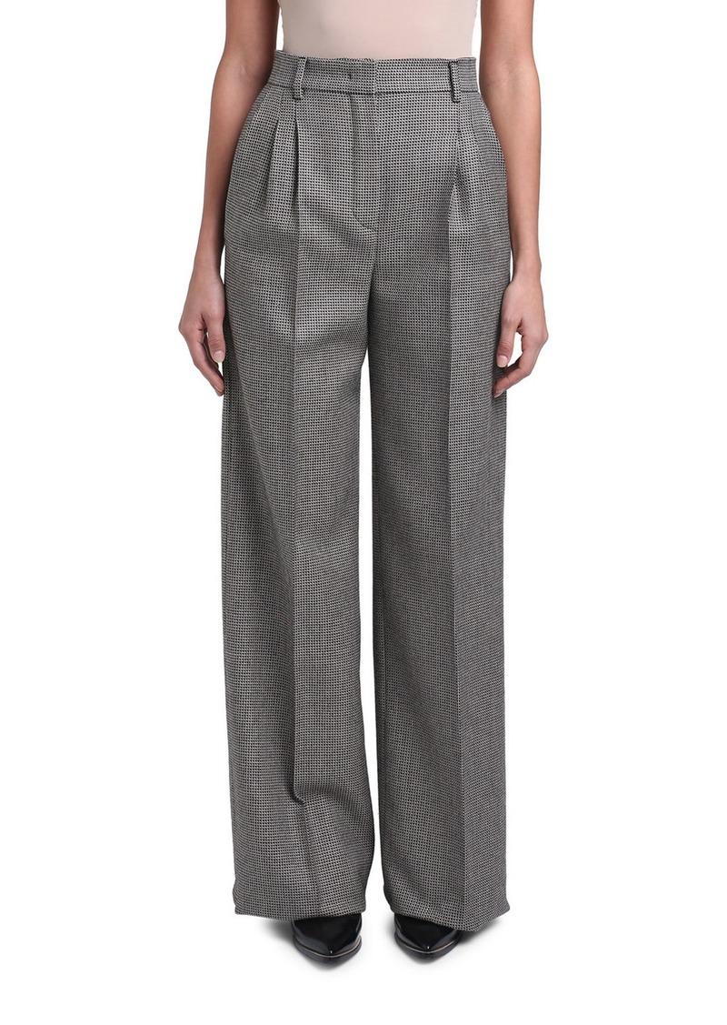 Fendi Pixel-Wool Wide-Leg Pants
