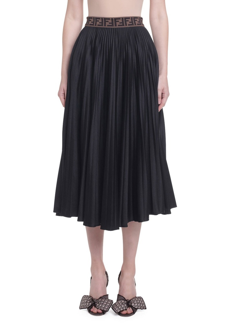 Fendi Pleated Jersey Skirt