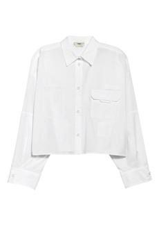 Fendi Pocket Poplin Button-Up Shirt