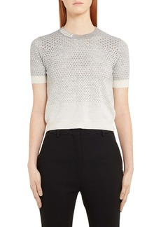 Fendi Pointelle Degradé Wool, Silk & Cashmere Sweater