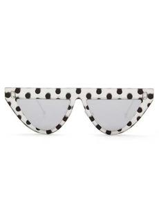 Fendi Polka-dot D-frame acetate sunglasses