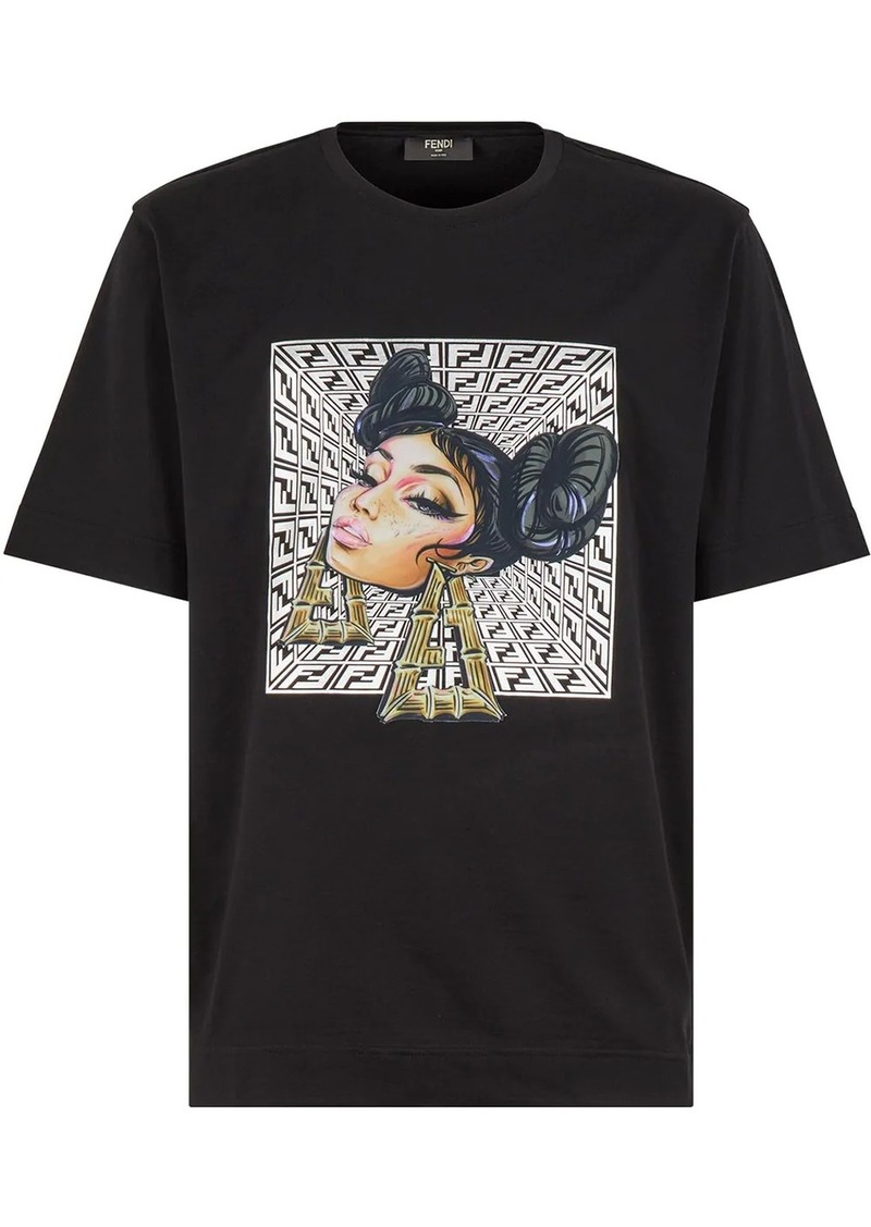 Fendi Prints On graphic-print T-shirt