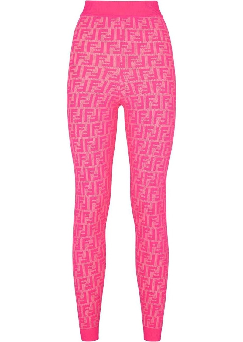 Fendi Prints On monogram leggings