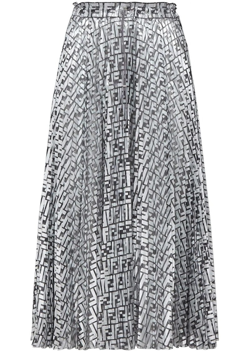 Fendi Prints On monogram midi skirt