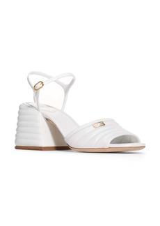 Fendi Promenade Ankle Strap Block Heel Sandal (Women)