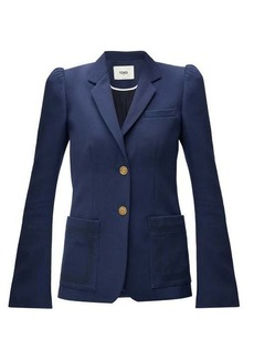 Fendi Puffed-sleeve twill jacket