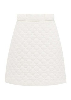 Fendi Quilted washed crepe de Chine skirt