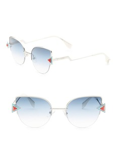 Fendi Rainbow 52MM Cat Eye Sunglasses