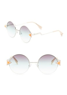 Fendi Rainbow 52MM Round Sunglasses