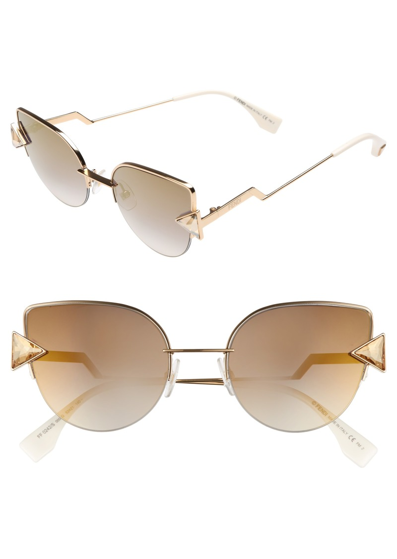 fd3d4a5e44 Fendi Fendi Rainbow 52mm Semi-Rimless Sunglasses