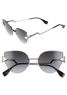 Fendi Rainbow 52mm Semi-Rimless Sunglasses