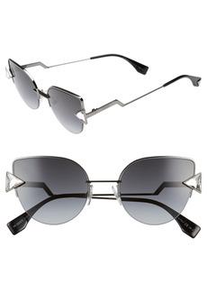 Fendi Rainbow 52mm Semi-Rimless Sunglasses