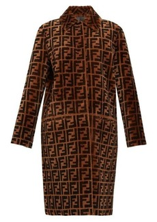 Fendi Reversible FF shearling and leather coat