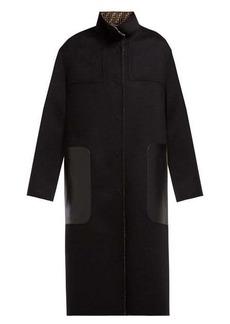 Fendi Reversible single-breasted wool-blend coat