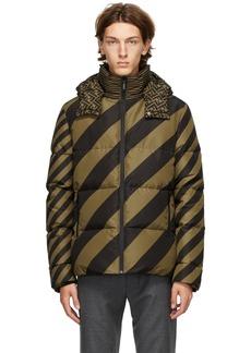 Fendi Reversible Tan & Black Down 'Forever Fendi' Puffer Jacket