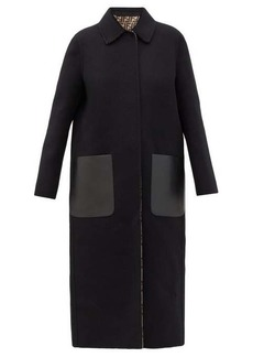 Fendi Reversible wool-blend coat