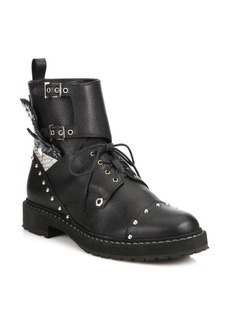 Fendi Rockerchic Studded Leather Combat Booties