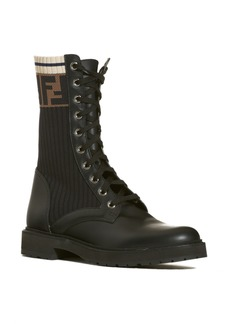 Fendi Rockoko Chelsea Sock Combat Boot (Women)