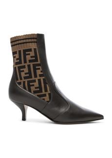 Fendi Rockoko Logo Ankle Boots