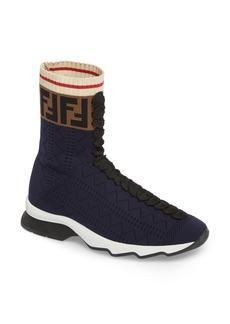 Fendi Rockoko Logo Sock Sneaker (Women)