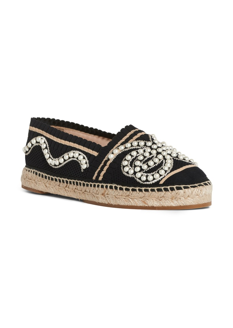 31e138dcf Fendi Fendi Rockoko Pearland Embellished Espadrille (Women) | Shoes