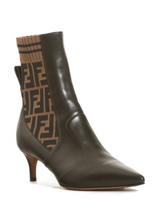 Fendi Rockoko Pointy Toe Bootie (Women)