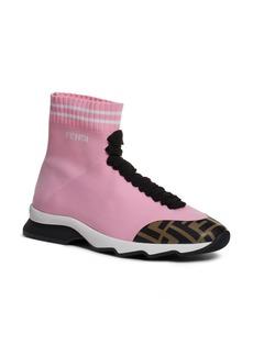 Fendi Rockotop Zucca Sock Sneaker (Women)