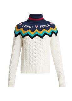 Fendi Roll-neck wool-blend sweater